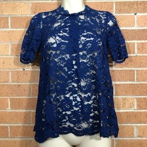 Anthropologie HD in Paris blouse size 4 lace